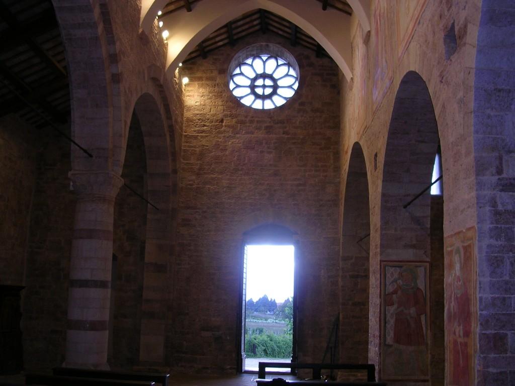 parete di controfacciata della chiesa di San Claudio
