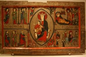 tavola con scene della natività, museo di Barcellona
