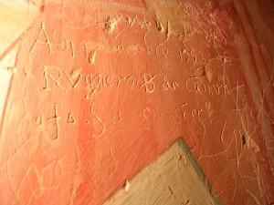 """""""9 ottobre 1553 ruggiero B da canara f.s.s. semper"""