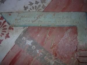 Sulla squadra era scritto: Zuano da Melouzzo da Forlì venne in questa chiesa il dì 21 de magio 1492i