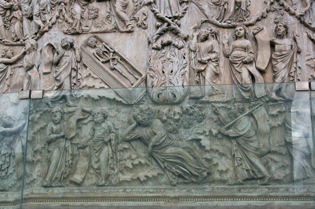 l'albero genealogico di Gesù fuoriesce dal corpo della figura semisdraiata di Jesse dormiente