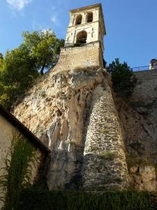 il campanile dell'abbazia di Sant'Eutizio a Preci