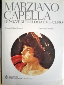 """frontespizio dell'opera di Marziano Capella """"Le nozze di Filologia e Mercurio"""""""