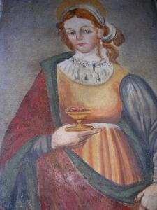 Santa Lucia, affresco votivo della chiesa di Santa Maria delle Grazie a Rosciolo