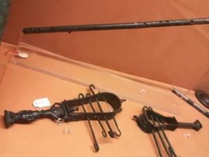 Sistri esposti al museo archeologico di Napoli