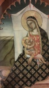 Madonna dell'umiltà di Francescuccio di Cecco Ghissi 1359. Pinacoteca Molajoli di Fabriano