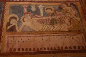 Deposizione di Cristo al sepolcro. Bominaco. Oratorio di San Pellegrino.